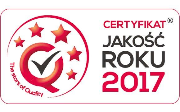 Certyfikat JAKOŚĆ ROKU® 2017