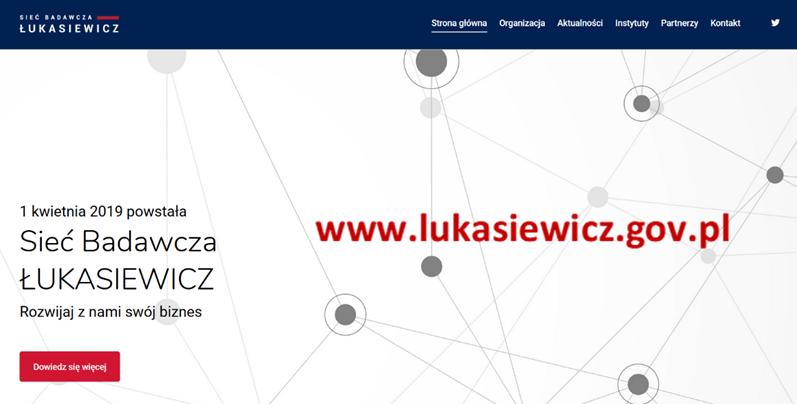 Strona Sieci Badawczej Łukasiewicz – już działa